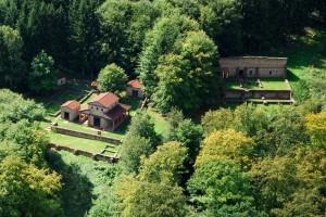 Luftbild Tempelanlage