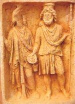 Relief der Isis und des Serapis