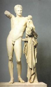 Marmorskulptur des Hermes