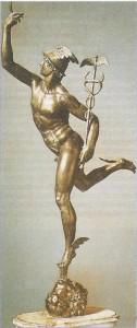 Bronzefigur des Hermes als Götterbote
